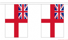 WHITE ENSIGN ROYAL NAVY BUNTING - 3 METRES 10 FLAGS